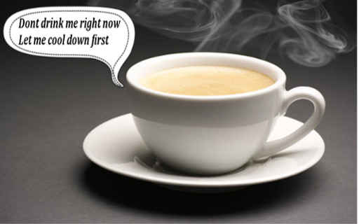 hot coffee in white cup and saucer
