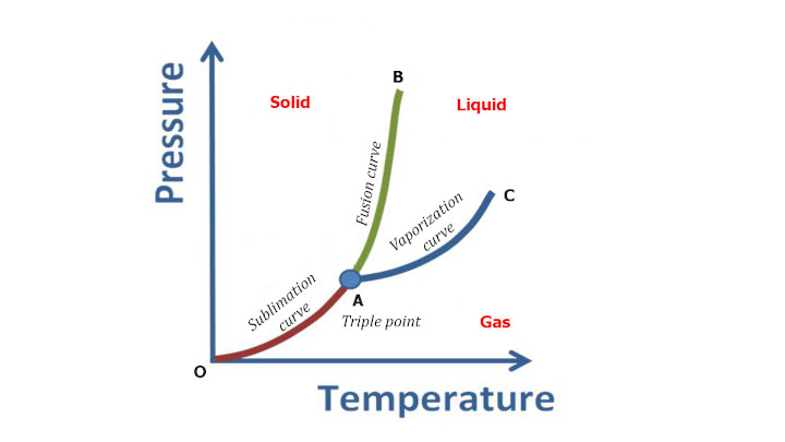 What is phase diagram and triple point graph