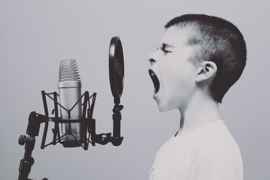 law of conservation of energy examples in which a boy is signing in front of microphone shows the conversion of sound energy in to electrical energy