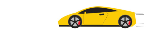 yellow animated Lamborghini car moving