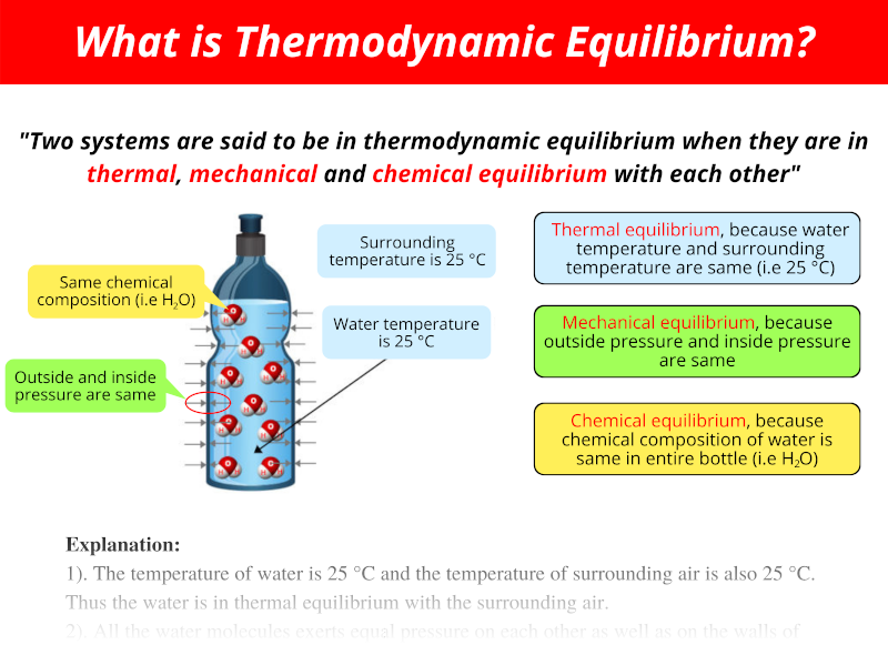 What is Thermodynamic Equilibrium with examples